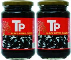 TP ブラックオリーブ種抜き340g×2本セット【訳あり品】